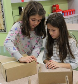 Elementary Students Complete Projects as Part of Global Cardboard Challenge