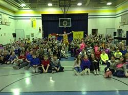 Ronald McDonald visits Aiken Elementary