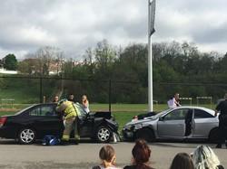 Mock Car Crash sponsored by SADD