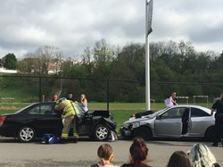 Mock Car Crash sponsored by SADD