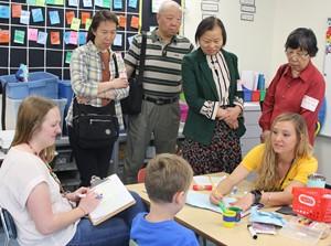 Chinese Visit Life Skills Classroom