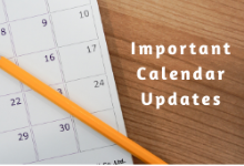 Reminder: Classes Resume Feb 10 & Important Calendar Updates