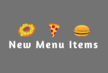 New Menu Items