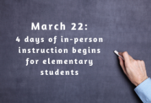 March 22: Elementary Schools Moving to Four Days of In-Person Instruction