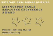 Nominations being accepted for 2020 Golden Eagle Employee Excellence Award
