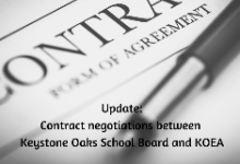 February 11: School Board, KOEA to resume contract negotiations