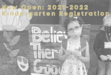 Now Open: Kindergarten Registration for the 2021-2022 School Year