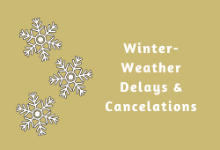 Winter Weather Delays & Cancelations for the 2020-2021 School Year