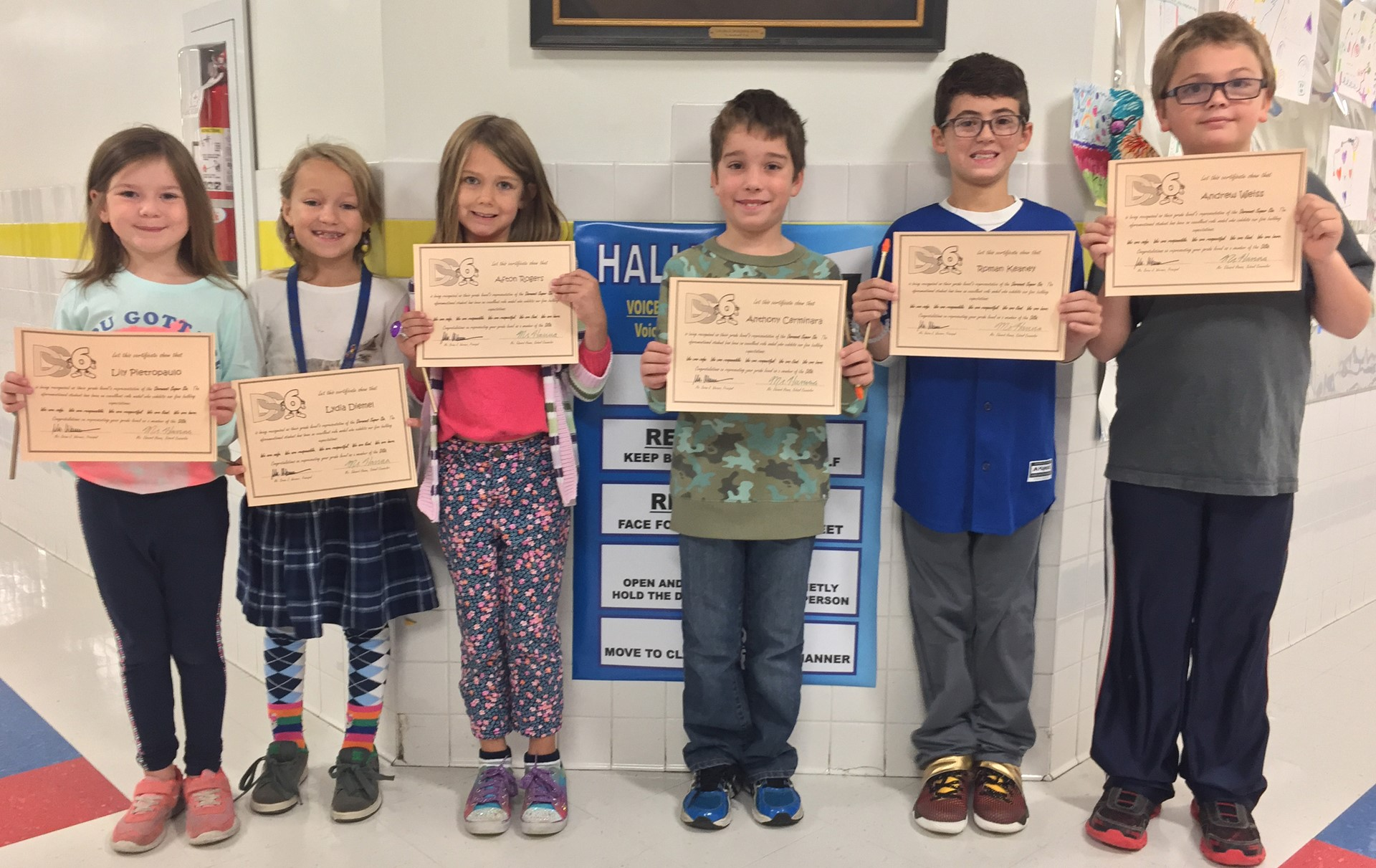 Dormont Super Six Students of the Month - September 2016