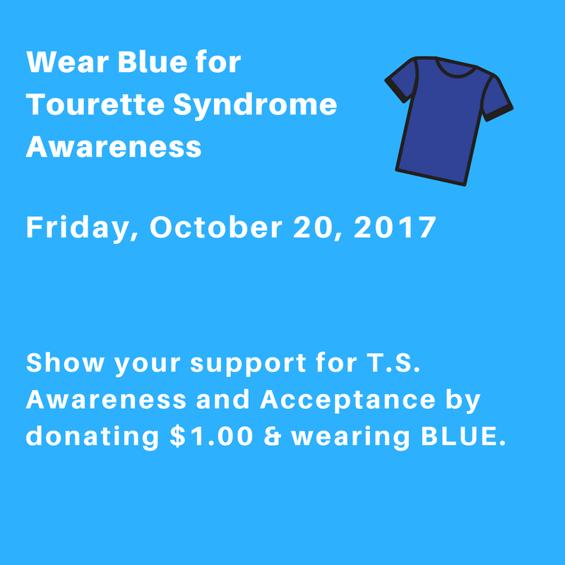 Wear Blue for Tourette Syndrome Awareness