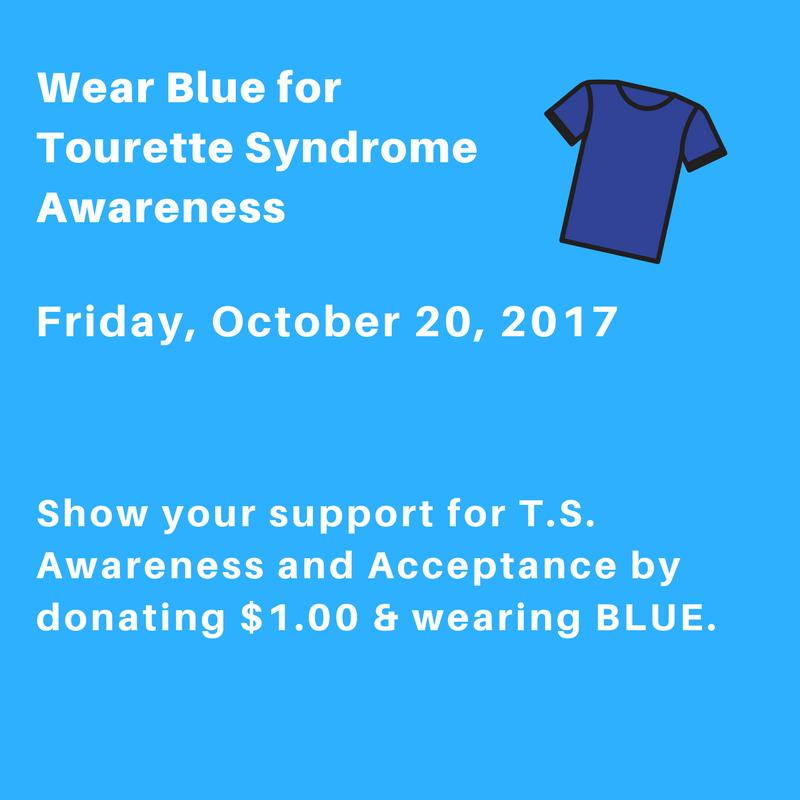 Wear Blue for Tourette Syndrome Awareness