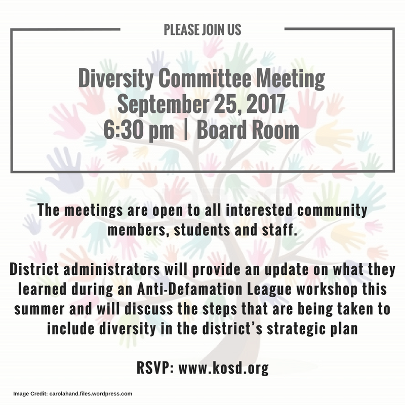 Diversity Committee - September 25 Meeting