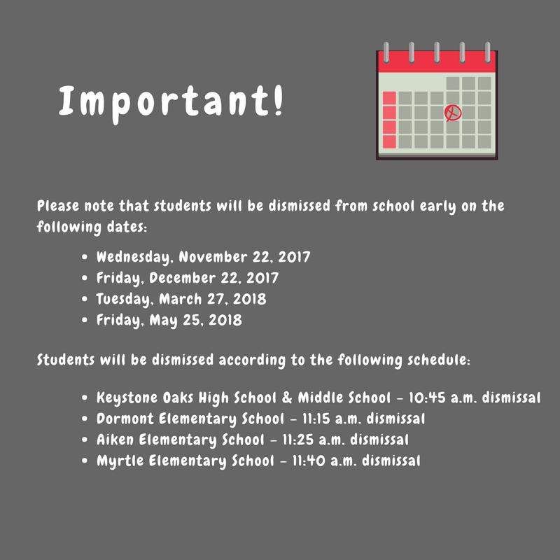 2017-18 Calendar Updates