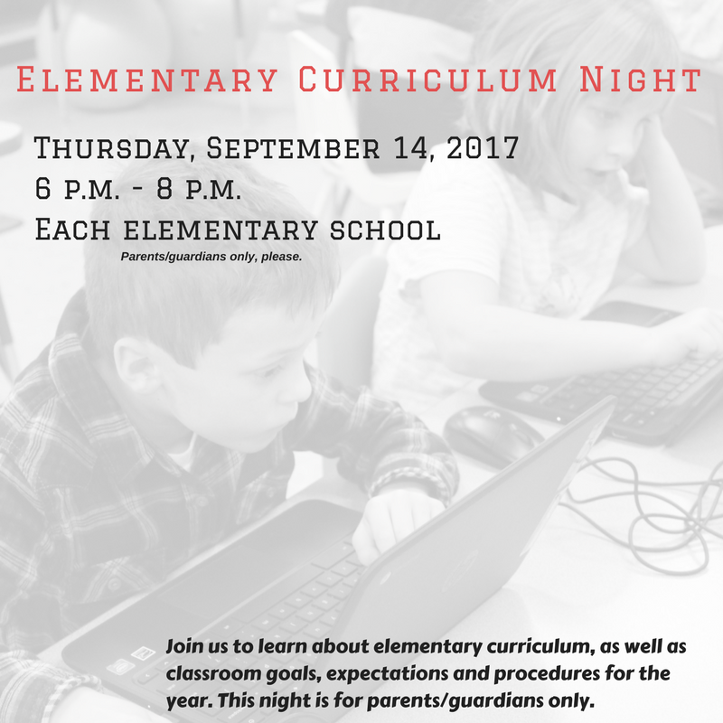 Elementary Curriculum Night
