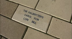Stadium brick pavers